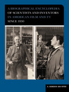 A Biographical Encyclopedia of Scientists and Inventors in American Film and TV since 1930 (eBook)